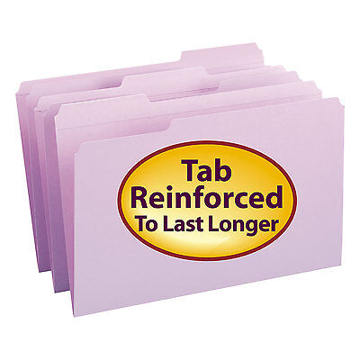 Smead File Folders 13 Cut Reinforced Top Tab Legal Lavender 100box