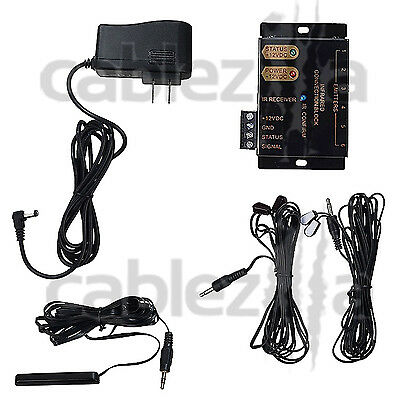Hidden IR Remote Control Repeater Extender Infrared Emitter receiver System Kit