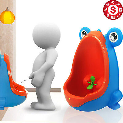Frog POTTY TRAINING TOILET URINAL with Target Pee Learn for Kids Toddler Blue