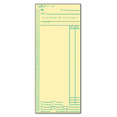 Tops Acroprintamanocincinnatilathem Time Card Weekly 3 38 X 8 14 500box