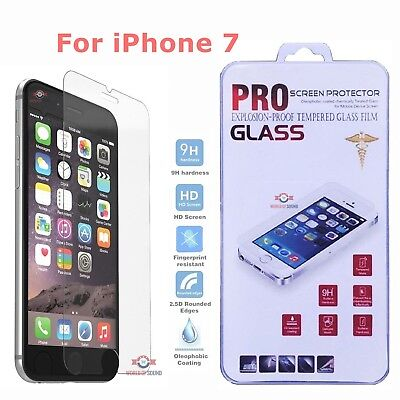 (For iPhone 7 Tempered GLASS Screen Protector Bubble Free HD Protective Film USA)