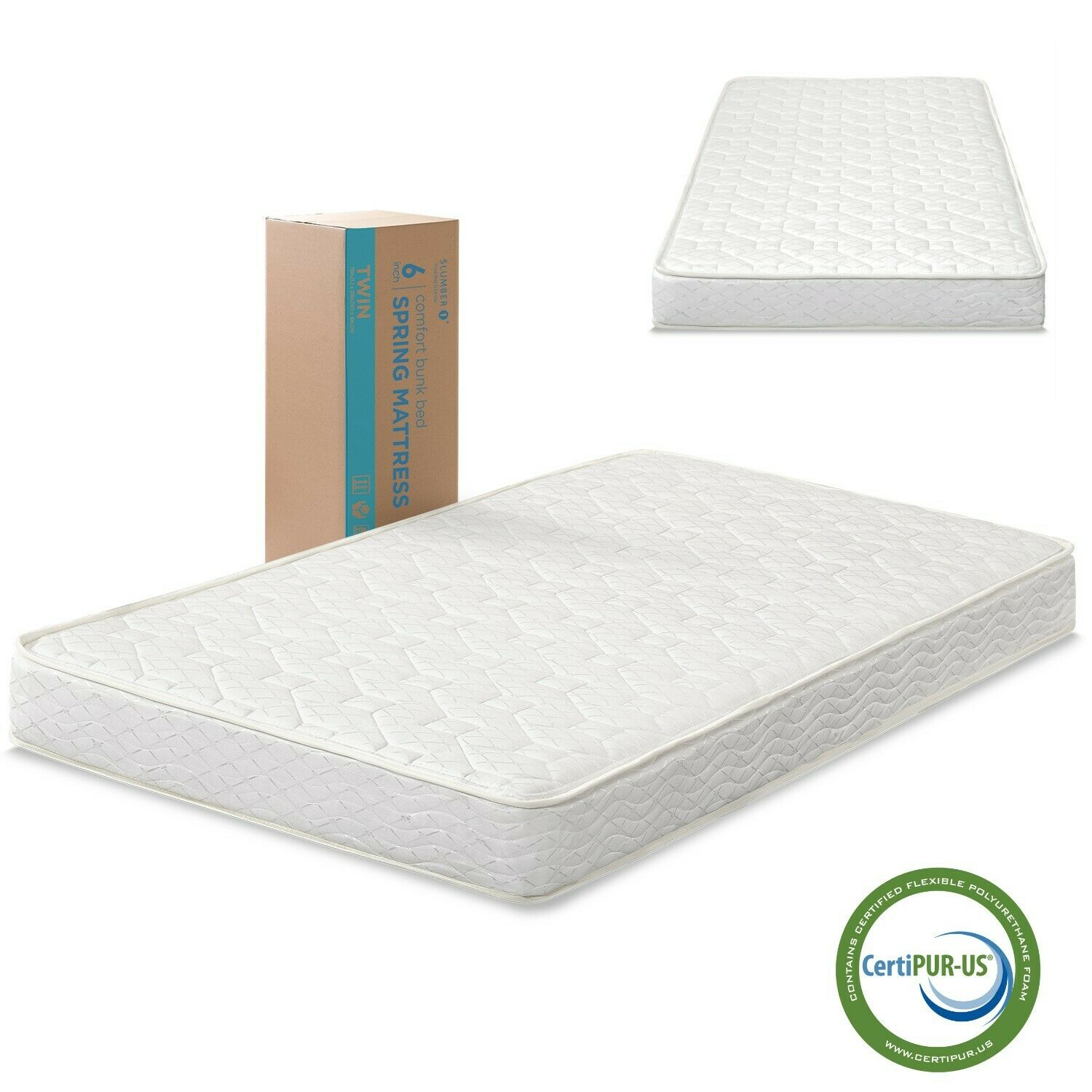 Firm Innerspring Mattress Full Twin Size Comfort for Bunk Be
