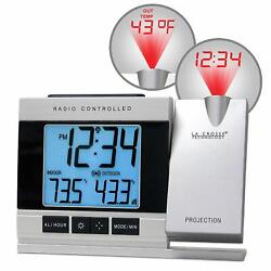 La Crosse Radio Controlled Projection Alarm Clock w/ Indoor/Outdoor Temperature