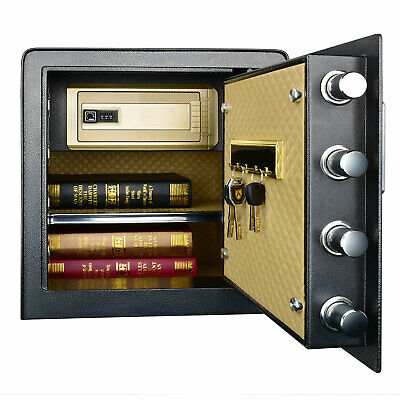 Double Protection Key Lock Electronic Keypad Box Security W Interior Led Light