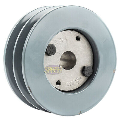 B Section Dual Groove 2 Piece 4.5 Pulley W 34 Sheave Shiv Cast Iron 5l V Belt