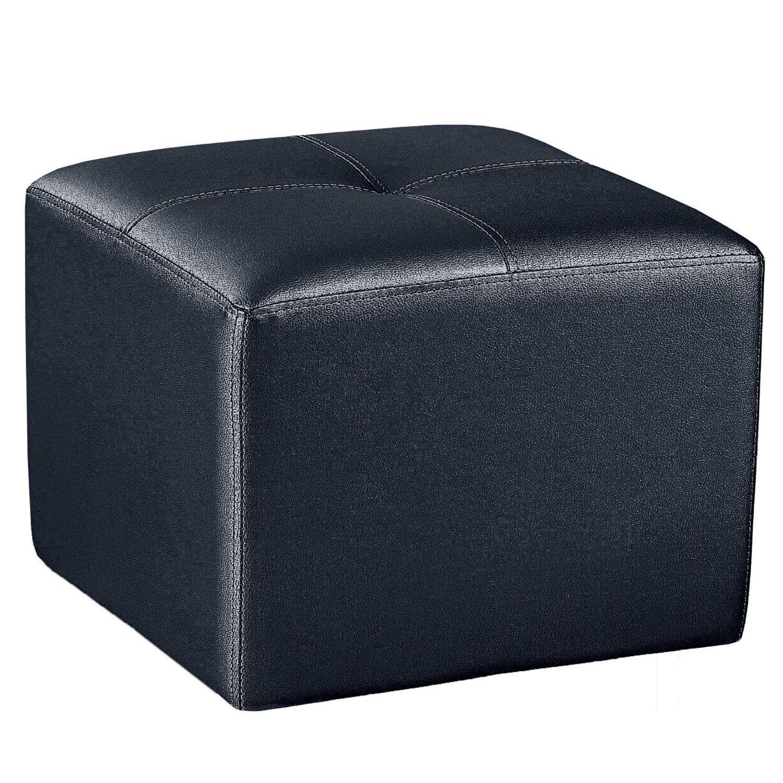 Puff cuadrado pouf de polipiel puf para sal n comedor for Puff cuadrados