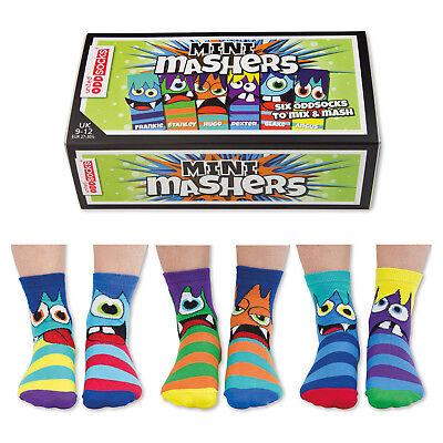 Socken Oddsocks Mini Mashers Strümpfe Monster Strumpf Oddsocks im 6er Set