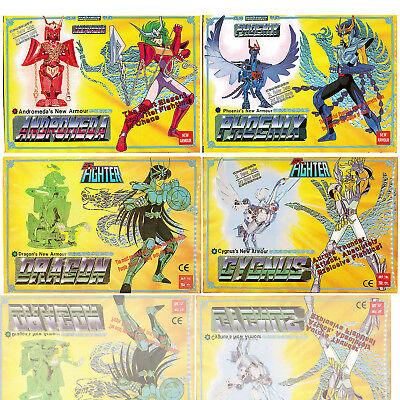 1987 Vintage Saint Seiya Sendo Seya Die-Cast Dragon Phoenix Andromeda Cygnus 4Pk