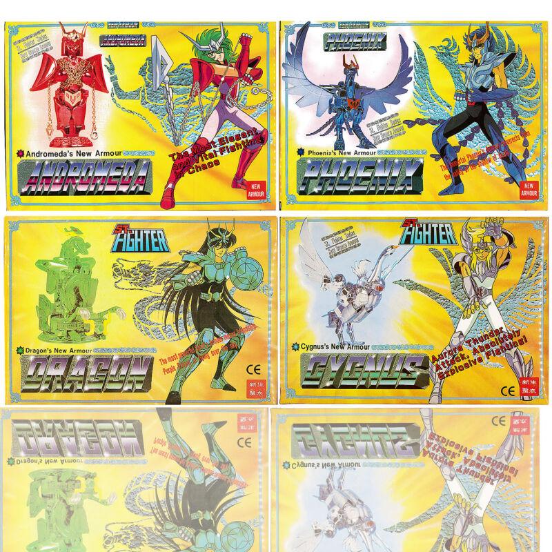 1987 Vintage Saint Seiya Sendo Seya Die-Cast Dragon Phoenix Andromeda Cygnus Set