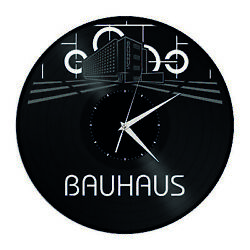 Bauhaus Vinyl Wall Clock Exclusive Unique Gift for Fiends Living Room Decoration