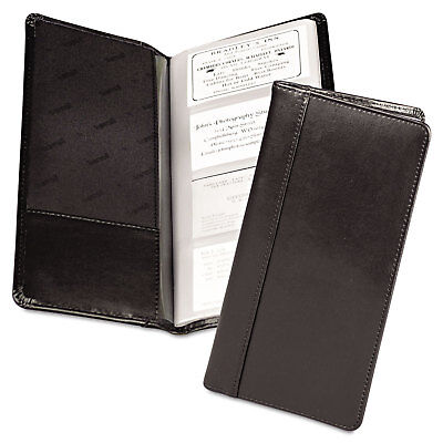 Samsill Regal Leather Business Card File 96 Card Cap 2 X 3 12 Cards Black 81240