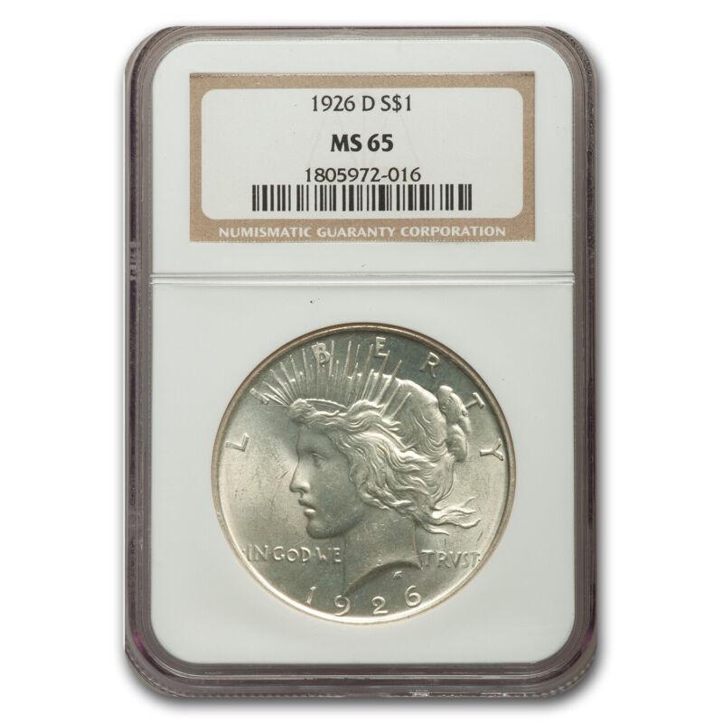 1926-D Peace Dollar MS-65 NGC