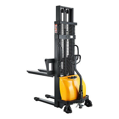 Sovans Electric Walkie Pallet Stacker Lift Height 98 2200lbs With Adj. Forks