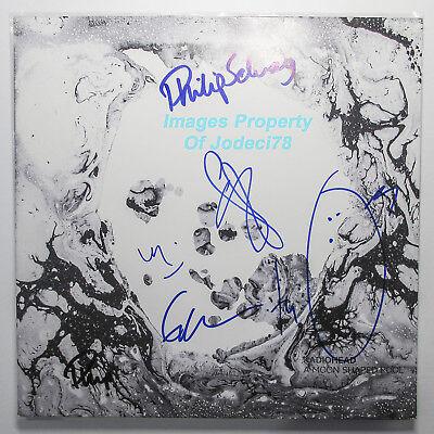 Radiohead FULL BAND Signed Moon Shaped Pool Vinyl EXACT Proof JSA Thom Yorke