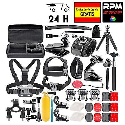 50 Accesorios cámara deportiva tipo GoPro 5 6 7 8, Xiaomi Yi, Crosstour, SJ,...