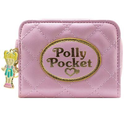 NEW OFFICIAL POLLY POCKET QUILTED EFFECT PINK COIN & CARD CLUTCH PURSE