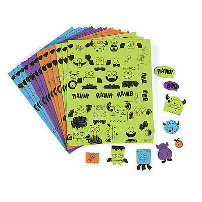 500 Self Adhesive FOAM Monster Shapes Halloween Party Game CRAFT SUPPLIES - Halloween Wholesale Party Supplies