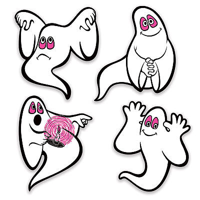 Halloween Peel N Place Vintage GHOSTS Beistle Reproduction 1973 Party Decoration](Reproduction Vintage Halloween Decorations)