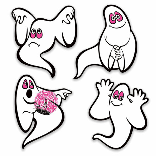 Halloween Peel N Place Vintage GHOSTS Beistle Reproduction 1973 Party Decoration