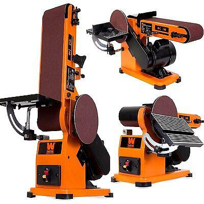 Belt Disc Wood Sander Bench Top Combination Electric Workshop Combo Machine Pro