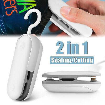2in1 Portable Mini Heat Sealing Machine Impulse Sealer Packing Plastic Bag Tool