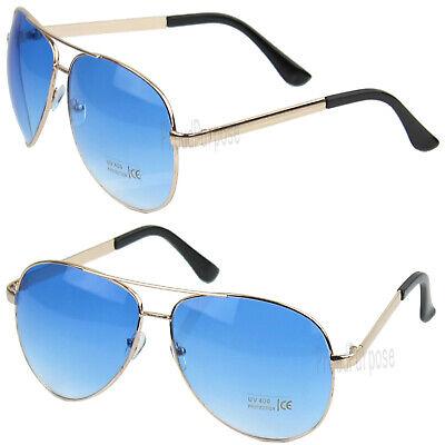 New Fashion Mens Oversized Pilot Rose Gold Metal Frame Sunglasses Aviator (Mens Rose Gold Sunglasses)