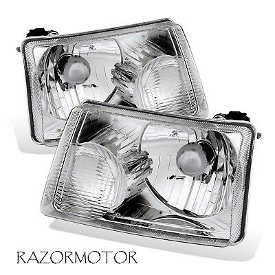 2001-2011 Replacement Headlights Lamp Pair For Ford Ranger Pickup Truck w/ (2001 Ford Pickup Truck Headlights)
