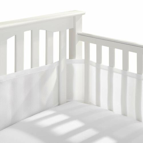 New Breathable Baby Mesh Crib Liner White