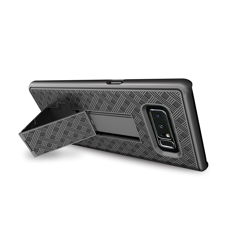 For Samsung Galaxy Note 8 Black Holster Swivel Belt Clip Hard Slim Case Cover