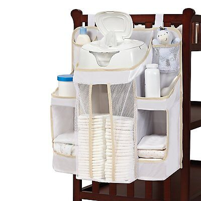 Diaper Organizer Caddy Wipes Storage Nursery Stacker White Baby Dex