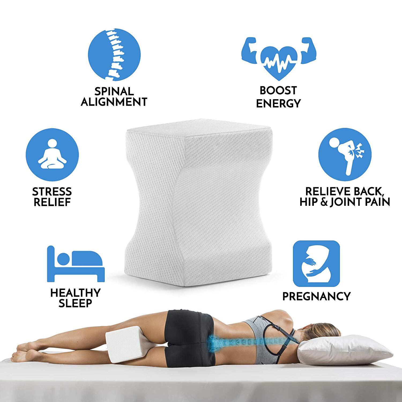 Contour Orthopedic Leg Memory Foam Pillow for Back Hip Leg Knee Support Wedge