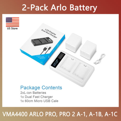 New Arlo Powerextra Rechargeable Battery + Quick Charger for Arlo Pro/Arlo Pro 2
