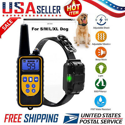 Dog Shock Collar With Remote Waterproof Electric for Large 875 Yard Pet Training Dog Shock Collar Remote