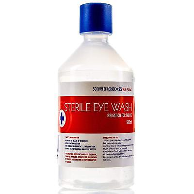 500ml Sterile Saline Eyewash First Aid Wound Solution Bottle Various Qty