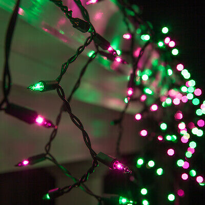 Halloween Icicle Lights (Purple Green Halloween Net Icicle Party Lights Black Wire,)