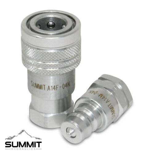 1/4″ NPT ISO 7241-A Quick Disconnect Hydraulic Coupler Set