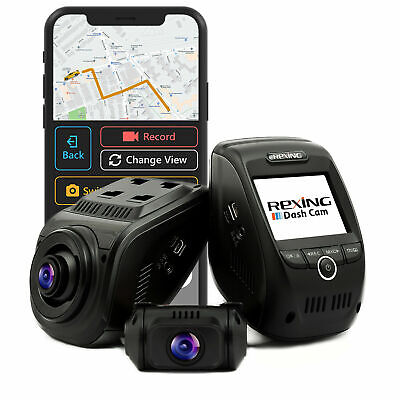 Rexing - V1P Pro Plus Front and Rear Camera Dash Cam - Black