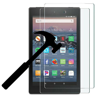 2X Tempered Glass Screen Protector For New Amazon Fire HD 8 2018/ HD 8 2017