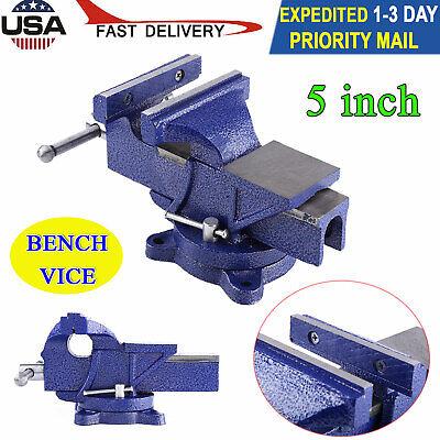 New 5 Mechanic Bench Vise Table Top Clamp Press Locking Swivel Base Heavy Duty