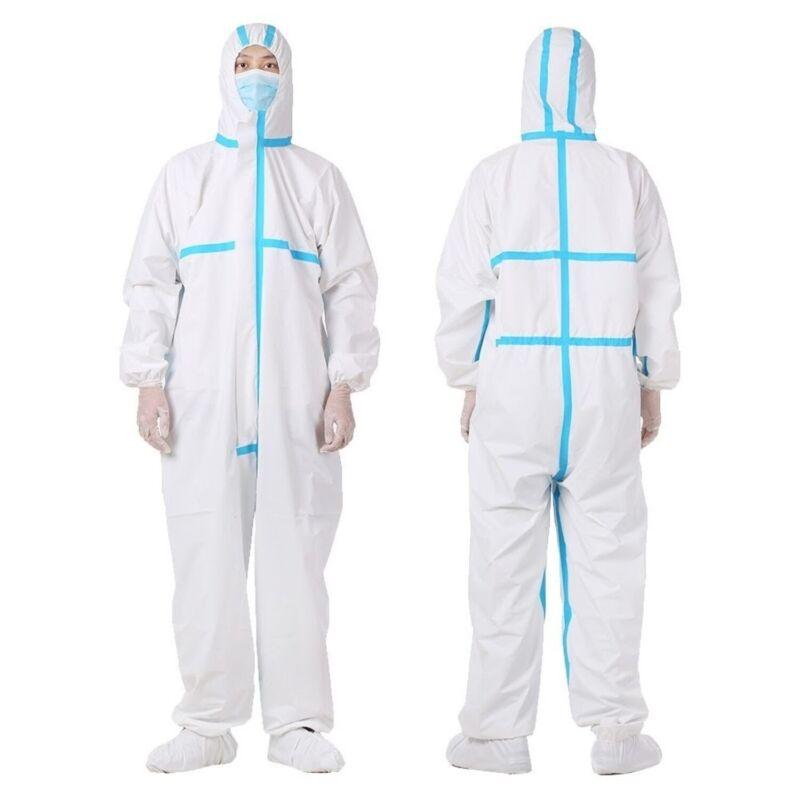 Protective Coverall Hazmat Suit PPE Tyvek Full Body Protection (Large, 1 Pack)