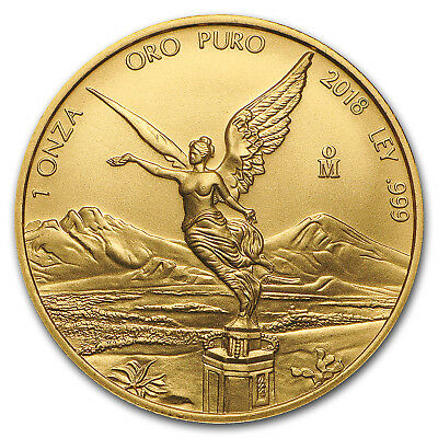2018 Mexico 1 oz Gold Libertad BU