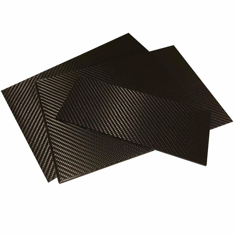 (1) Carbon Fiber Plate - 200mm x 300mm x 1mm Thick - 100% -3K Tow, Plain...