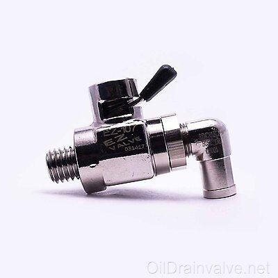 EZ Engine Oil Drain Valve EZ-107(12mm-1.75) & L-Shaped Hose End L-001 COMBO PACK Hose Oil Drain