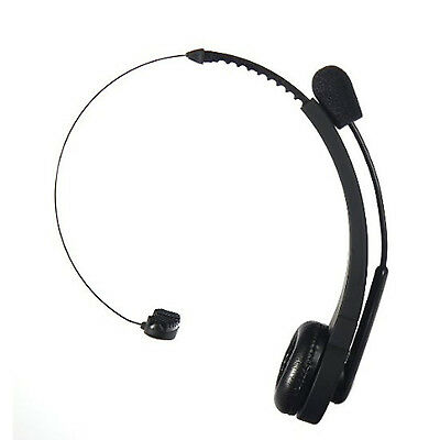 Wireless Bluetooth Trucker Noise Cancelling Headset Over Head Handsfree Boom Mic