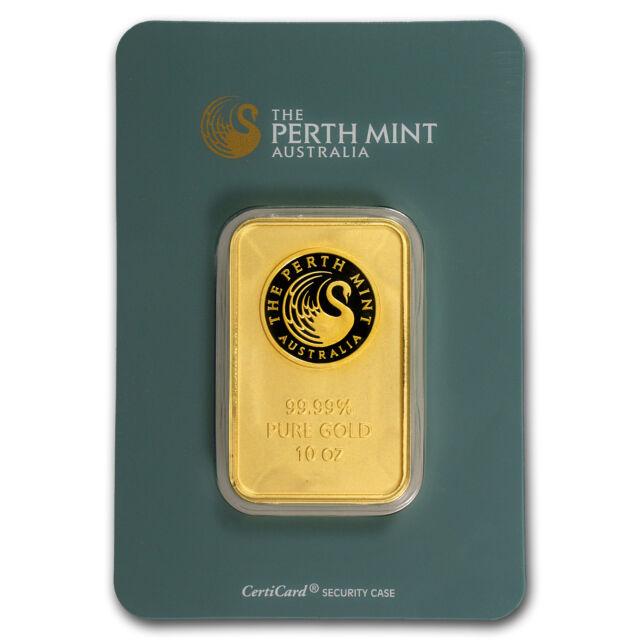 10 oz Gold Bar - Perth Mint (In Assay) - SKU #57160