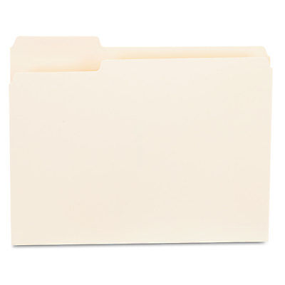 Universal File Folders 13 Cut First Position One-ply Top Tab Letter Manila 100