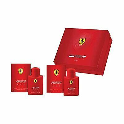 Ferrari Scuderia Red 75ml EDT + Aftershave Mens Gents Fragrance Cologne Gift Set