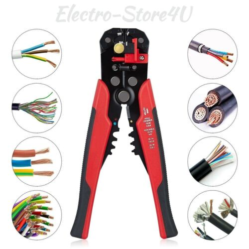 Self Adjusting Automatic Wire Stripper Cutter Crimper Cable Stripping Tool 8""
