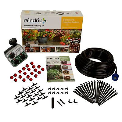 Raindrip R560dp Container Hanging Basket Automatic Watering Kit With Timer