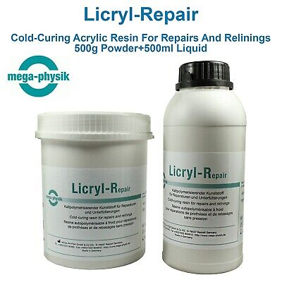 Dental Licryl Repair Full Cast Restoration Acrylic Denture Base Cold Self Cure